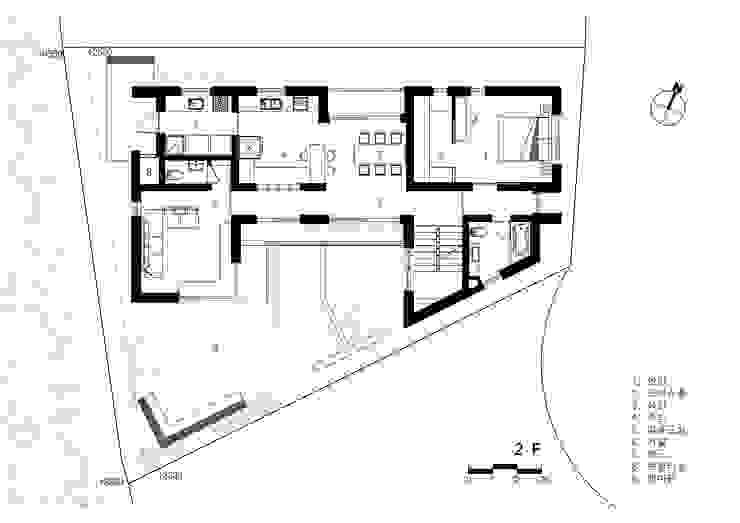 2층 평면도: 건축사사무소  CSU의 컨트리 ,컨트리