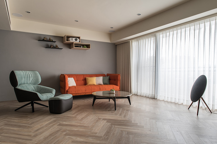 Modern Living Room by 詩賦室內設計 Modern