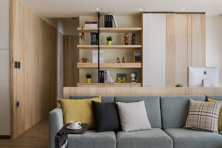 Scandinavian style living room by 詩賦室內設計 Scandinavian