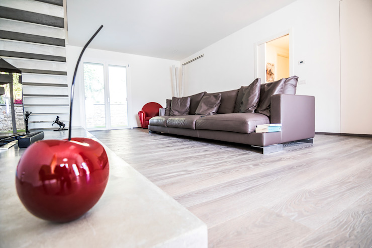 Magri Parquet Living room Wood Grey