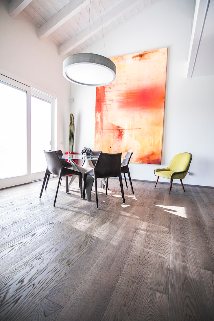 Magri Parquet Modern dining room Grey
