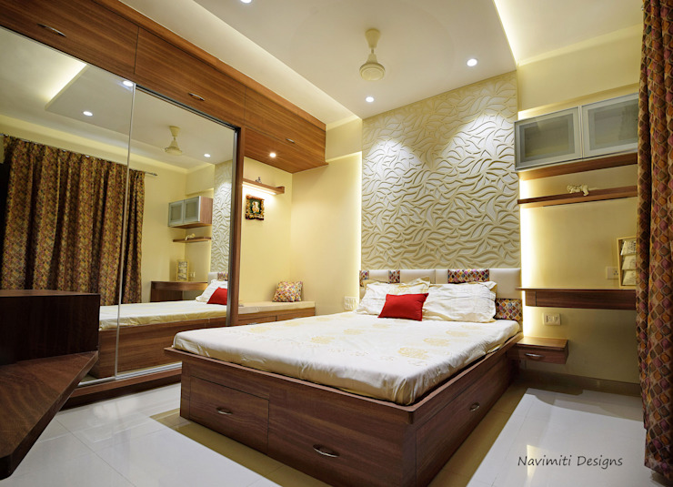 Master Bedroom Navmiti Designs Modern style bedroom MDF Wood effect