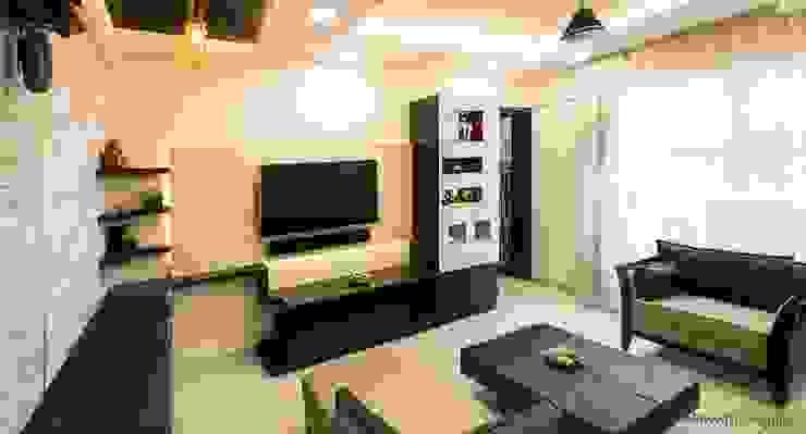 TV unit Navmiti Designs Modern living room MDF Multicolored