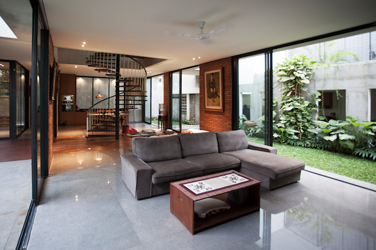 Tulodong IV WOSO Studio Ruang Keluarga Modern