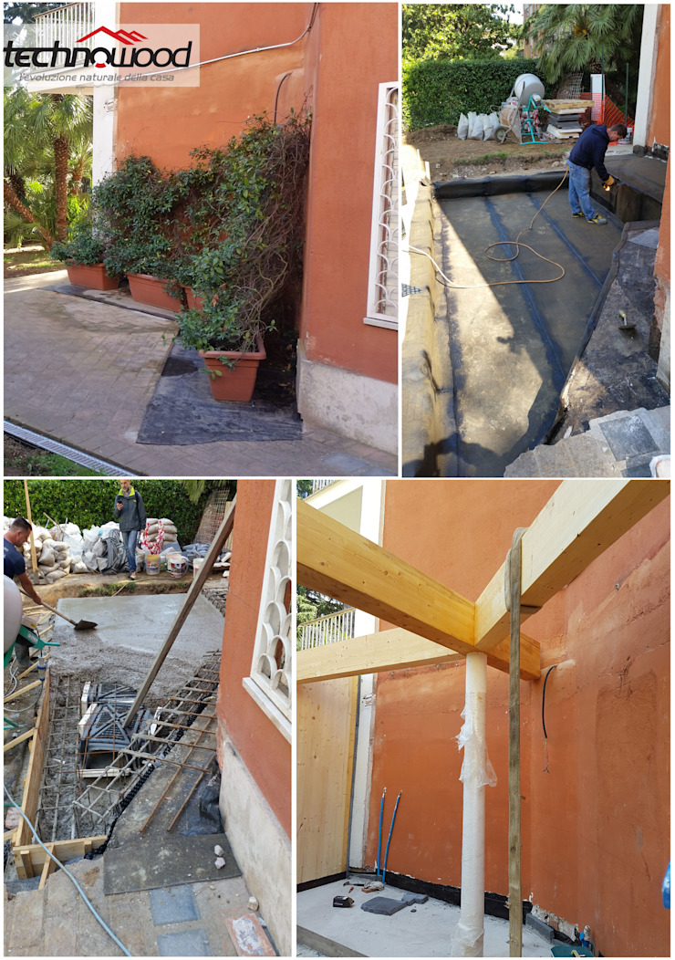 Casas clásicas de Technowood srl Clásico Madera Acabado en madera