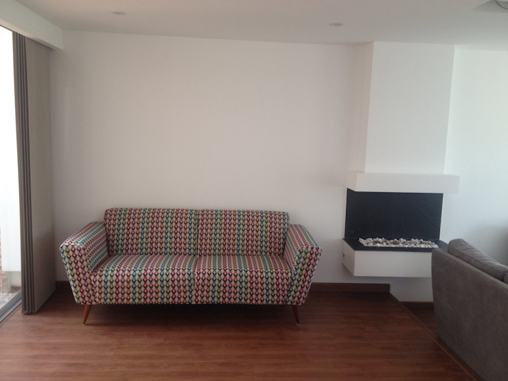 Erick Becerra Arquitecto Living roomSofas & armchairs Textile Grey