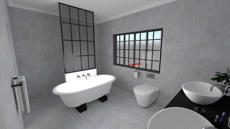 EN-Suite Bathroom Modern bathroom by A4AC Architects Modern Concrete