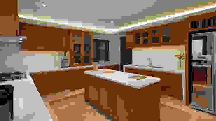 LP House Dapur Klasik Oleh ARF interior Klasik Kayu Wood effect