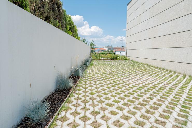 Jardim de Moradia Unifamiliar Hugo Guimarães Arquitetura Paisagista Jardins mediterrânicos