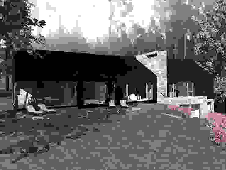 VISTA FRONTAL Casas de estilo rural de KOMMER ARQUITECTOS Rural Madera Acabado en madera