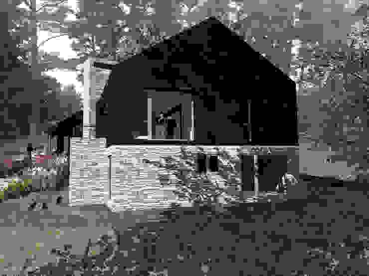 VISTA LATERAL Casas de estilo rural de KOMMER ARQUITECTOS Rural Madera Acabado en madera