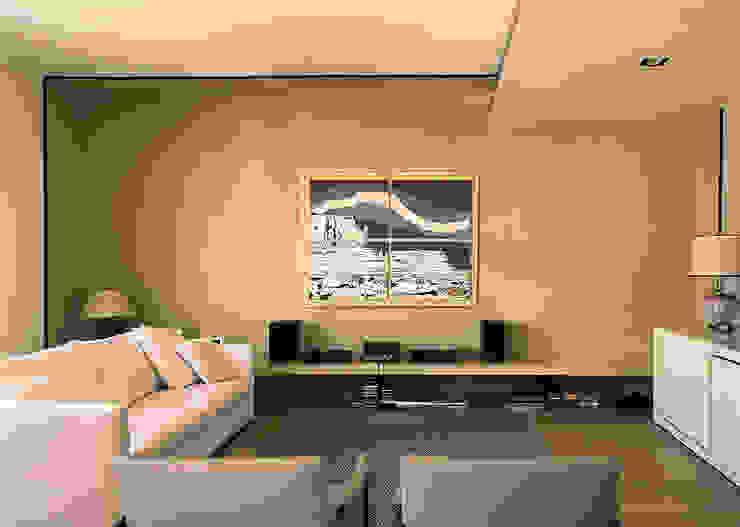 Sara Bellini Architetto Modern living room Amber/Gold