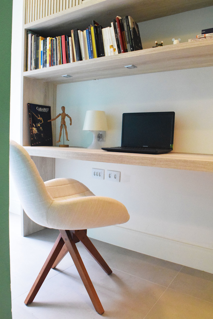 Modern study/office by CORES - Arquitetura e Interiores Modern