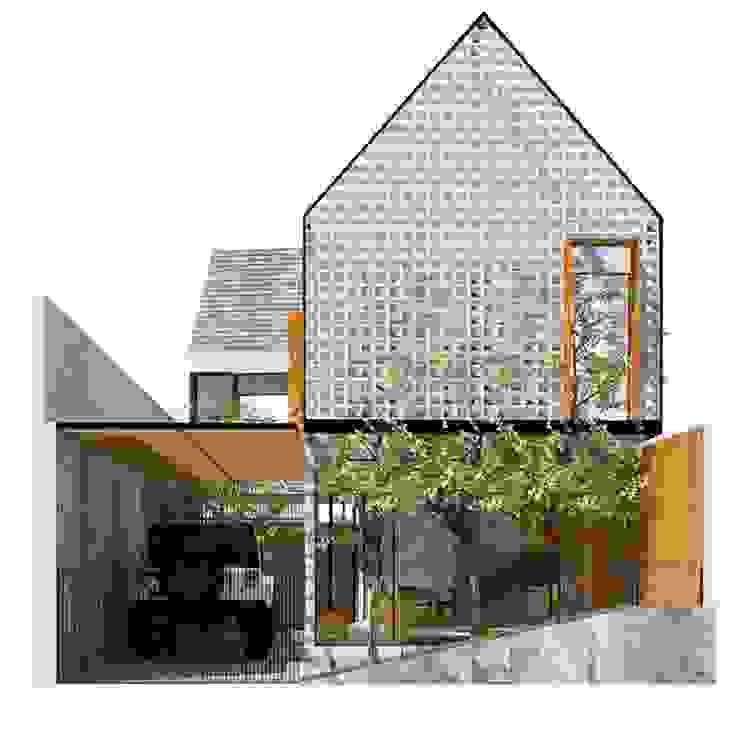 Kiến trúc nhà độc đáo với mặt tiền nhà liên kết bởi Công ty Thiết Kế Xây Dựng Song Phát Châu Á