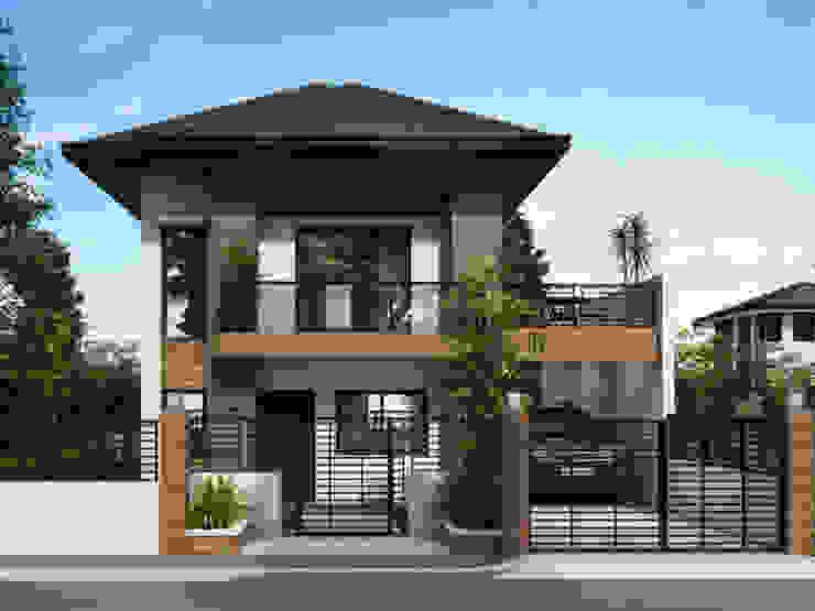 Ngôi nhà sang trọng hơn khi sử dụng mái ngói với màu nâu sẩm bởi Công ty Thiết Kế Xây Dựng Song Phát Châu Á