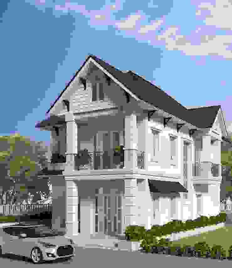 Biệt thự phố mái ngói được sử dụng phổ biến bởi Công ty Thiết Kế Xây Dựng Song Phát Châu Á