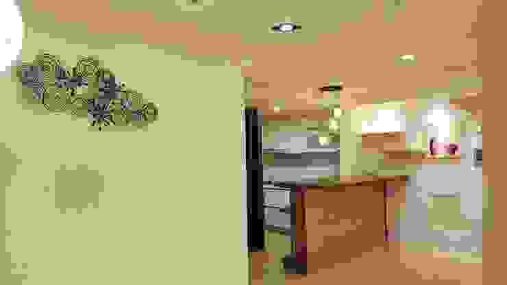 現代鄉村混搭風。八德 現代廚房設計點子、靈感&圖片 根據 藝舍室內裝修設計工程有限公司 現代風