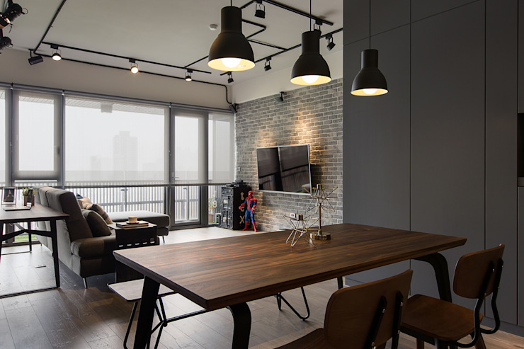 Industrial style dining room by 詩賦室內設計 Industrial