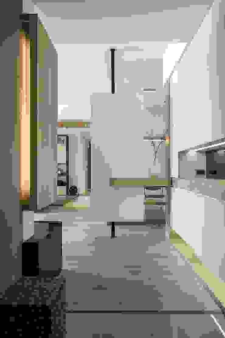 詩賦室內設計 Hành lang, sảnh & cầu thang phong cách Bắc Âu