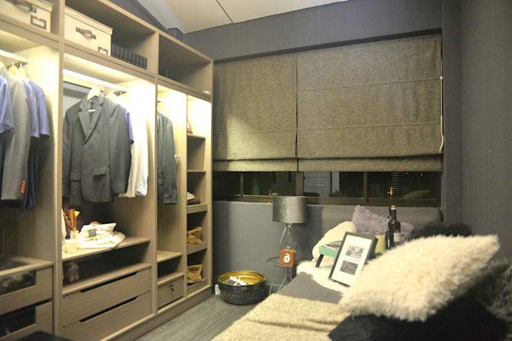 Industrial Modern Contemporary Modern style bedroom by Singapore Carpentry Interior Design Pte Ltd Modern