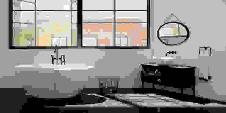 Ванные комнаты в . Автор – ZICCO GmbH - Waschbecken und Badewannen in Blankenfelde-Mahlow, Лофт Мрамор