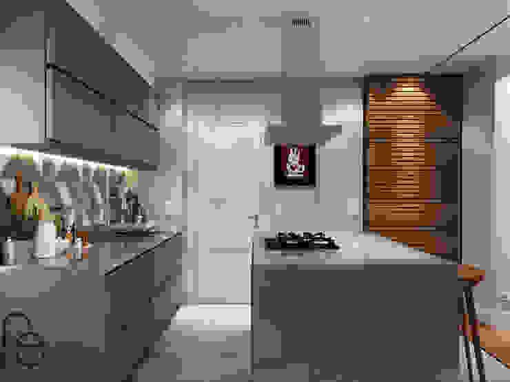 Cozinha integrada homify Cozinhas modernas