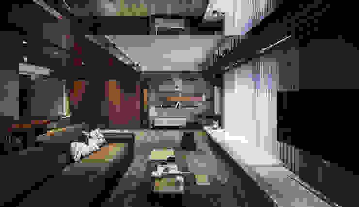Residence of S 现代客厅設計點子、靈感 & 圖片 根據 沈志忠聯合設計 現代風