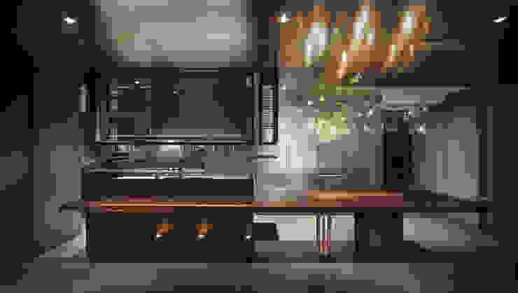 Residence of S 現代廚房設計點子、靈感&圖片 根據 沈志忠聯合設計 現代風