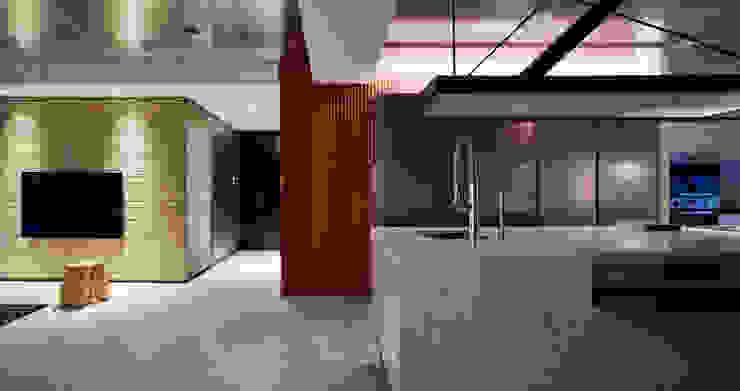 Linear Space 現代風玄關、走廊與階梯 根據 沈志忠聯合設計 現代風