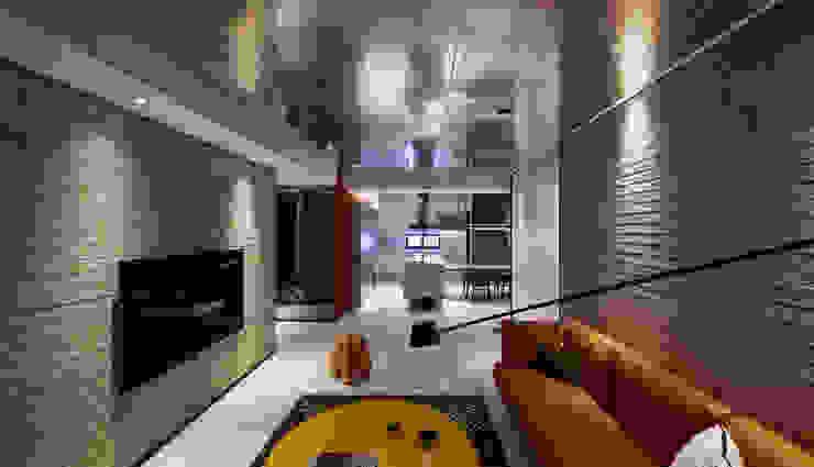 Linear Space 现代客厅設計點子、靈感 & 圖片 根據 沈志忠聯合設計 現代風