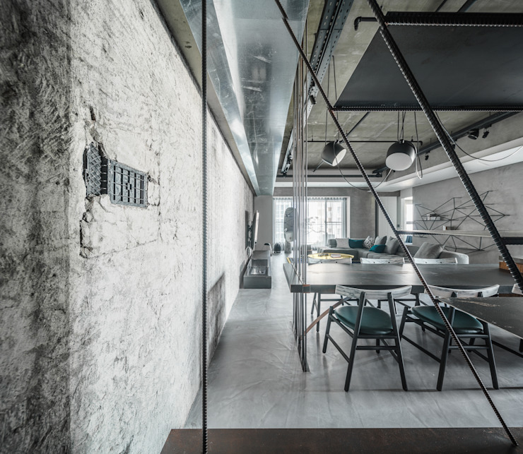 Eclectic style dining room by 沈志忠聯合設計 Eclectic