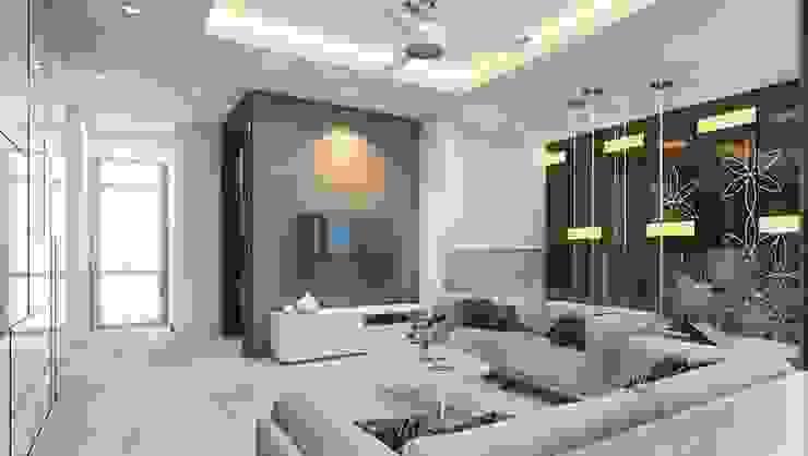 Salas de estilo moderno de K Square Architects Moderno