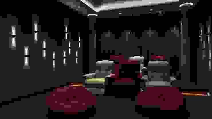 Salas de entretenimiento de estilo moderno de K Square Architects Moderno