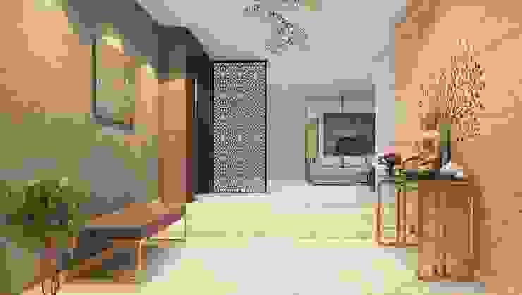 Pasillos, vestíbulos y escaleras de estilo moderno de K Square Architects Moderno