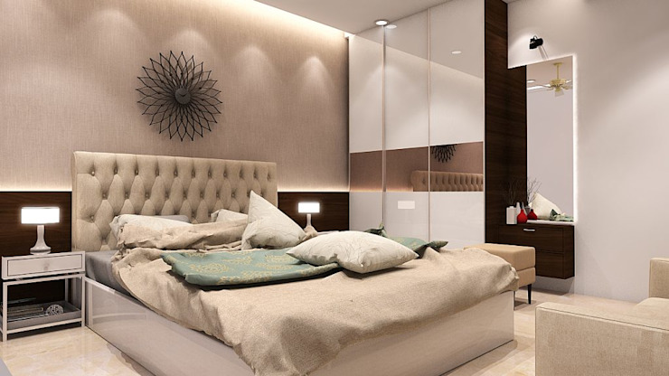 MASTER BEDROOM Modern style bedroom by K Square Architects Modern