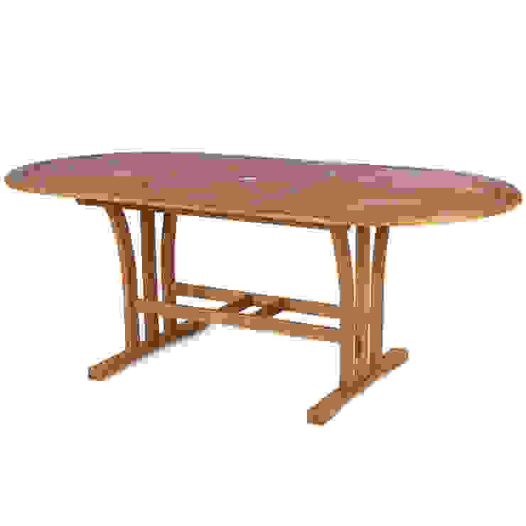 Tavolo da giardino in legno balau allungabile fino a 260h ...