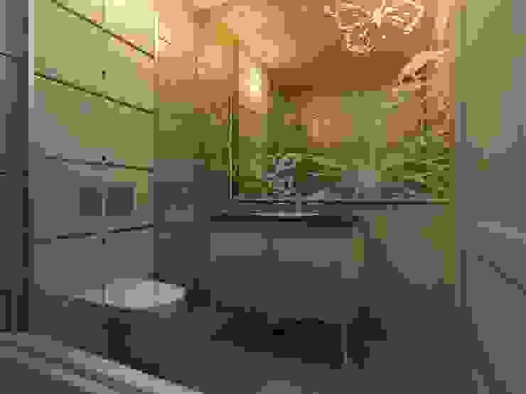 Sinpaş AQUA CİTY iç tasarımı 1 Modern Banyo homify Modern Mermer