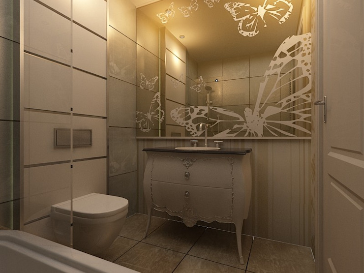 benna iç mimarlık – Sinpaş AQUA CİTY iç tasarımı 1:  tarz Banyo, Modern Mermer