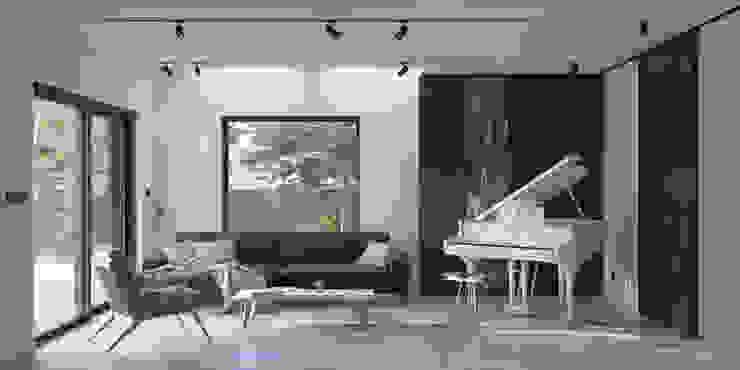 GŁOGOWSCY STUDIO Minimalist living room