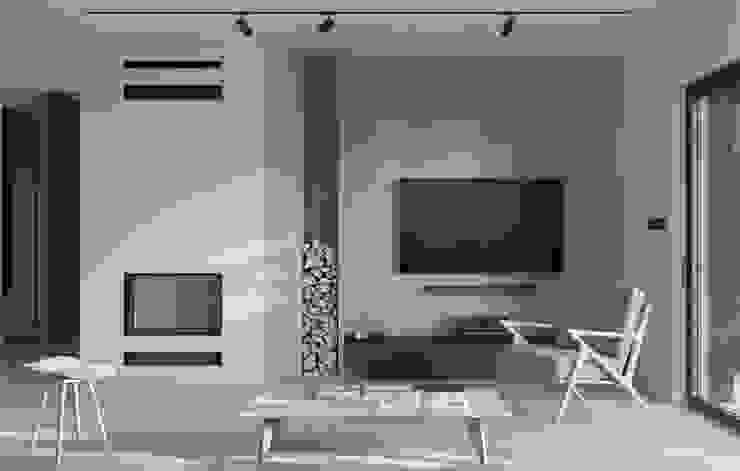 GŁOGOWSCY STUDIO Scandinavian style living room