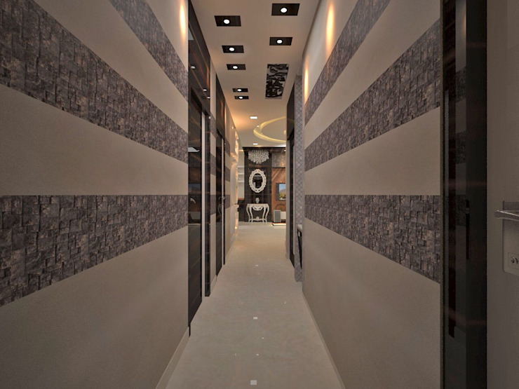 Contemporary interior project in kolkata Modern corridor, hallway & stairs by Estate Lookup Interiors Modern