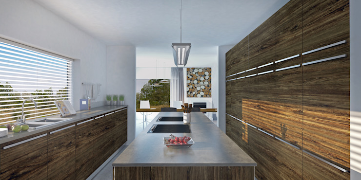 Kitchen—Dutch House Modern kitchen by Dedekind Interiors Modern