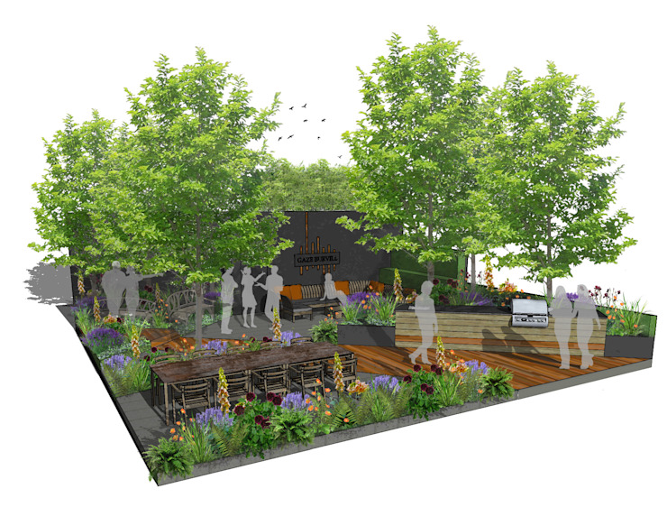 Trade Stand Concept for Chelsea Flower Show 2018 by Aralia Сучасний Дерево Дерев'яні