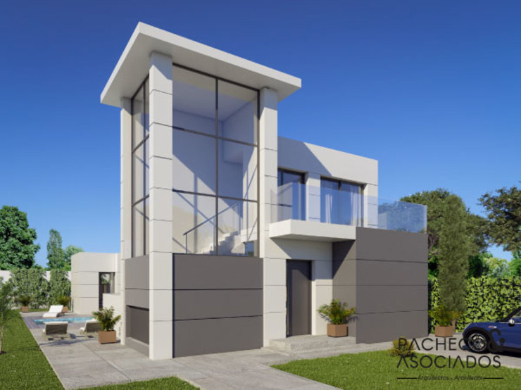 Pacheco & Asociados Moderne Häuser Weiß