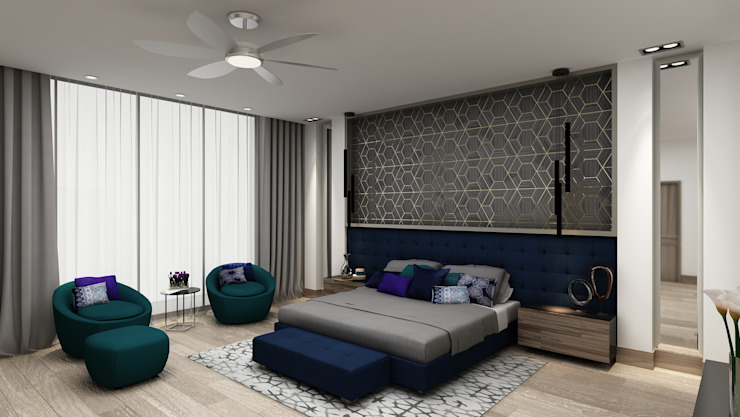 Bedroom by Álzar, Eclectic Wood Wood effect