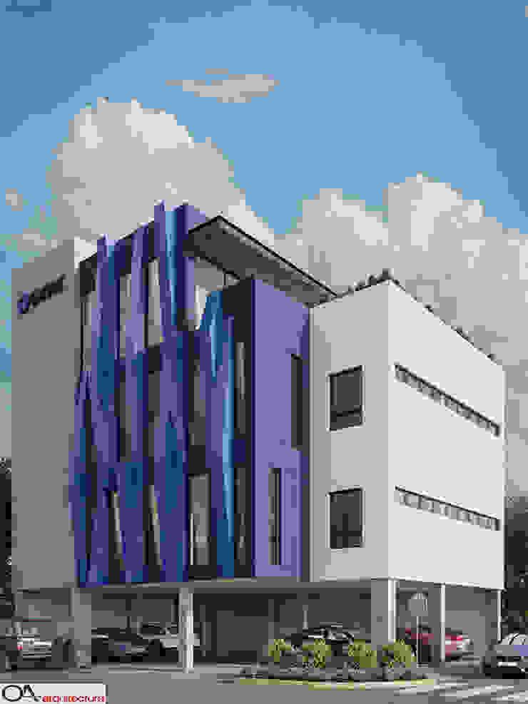Corporativo AXSIS Tecnología Edificios de oficinas de estilo minimalista de OA arquitectura Minimalista Concreto