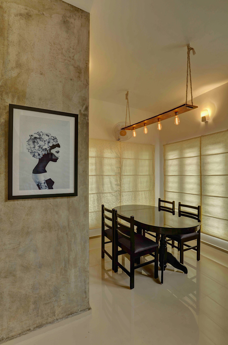 AANGAN Modern dining room by MAAD Concepts Modern Concrete