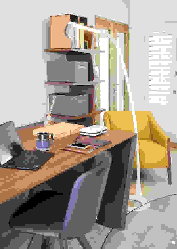 Home Study by Deborah Garth Interior Design International (Pty)Ltd Modern Wood Wood effect