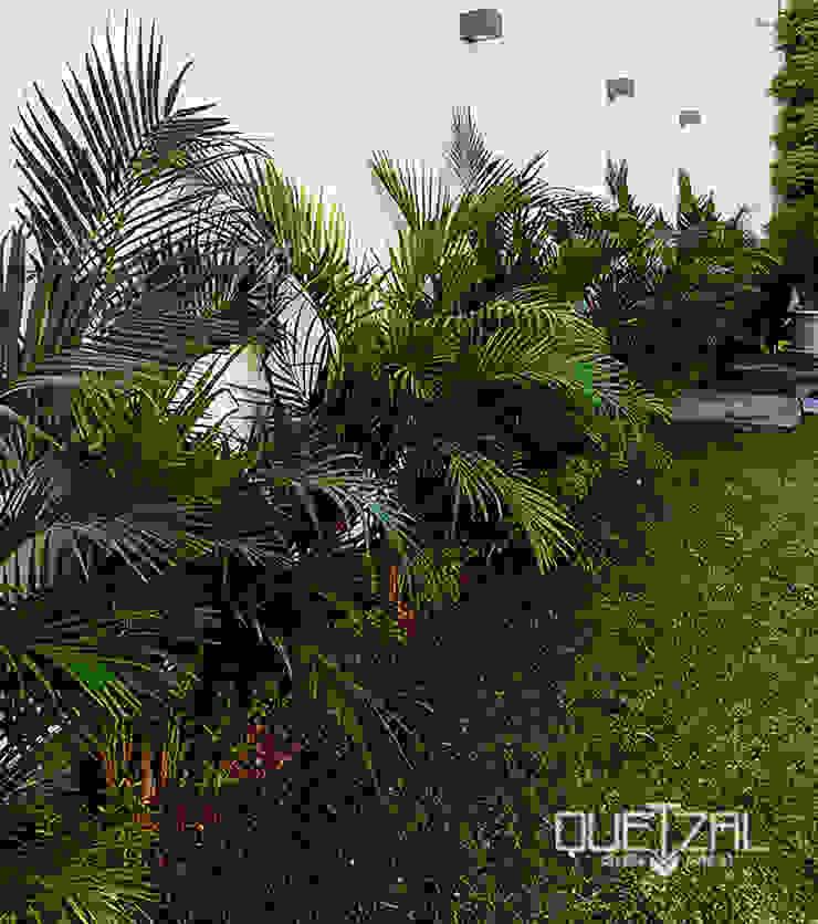 Paisajismo en residencia Jardines de estilo tropical de Quetzal Jardines Tropical