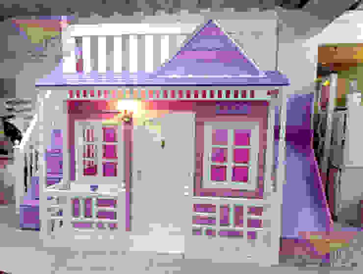 Preciosa Casita Celestial de camas y literas infantiles kids world Clásico Derivados de madera Transparente